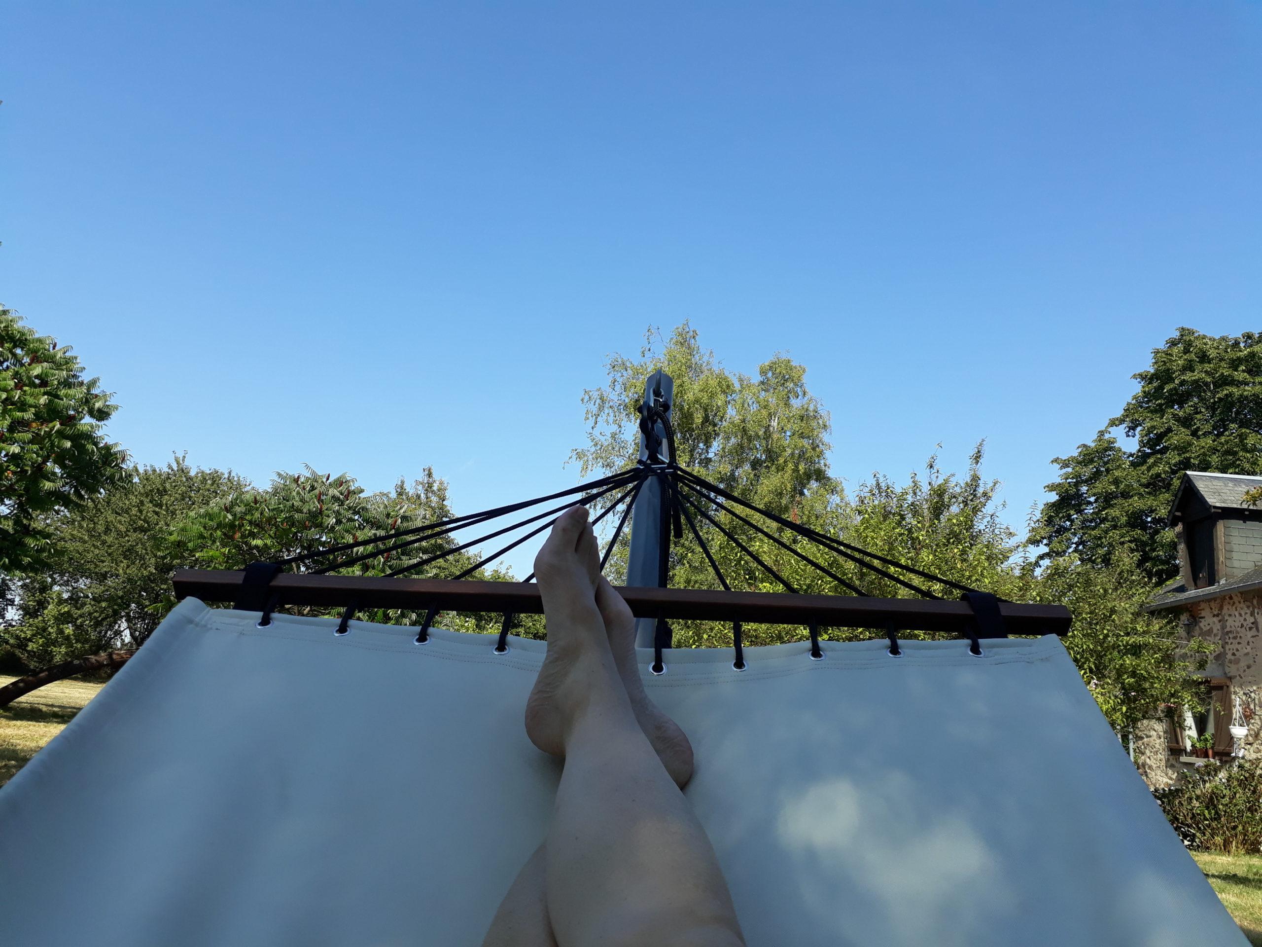 Lavillonnière ontspannen in de tuin